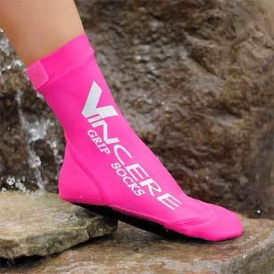 Neopreninės moteriškos vandens kojinės Grip Socks, rožinės spalvos