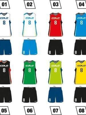 Basketball Uniform Colo Feed Colors