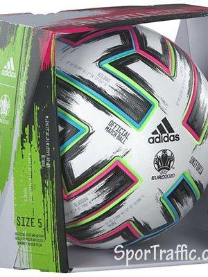 Futbolo kamuolys Adidas Uniforia Pro Football FH7362 oficialus 2020 metų Europos čempionato kamuolys